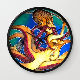 Octopus Lady Wall Clock