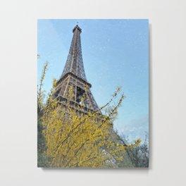 Les Fleurs d'Eiffel Metal Print