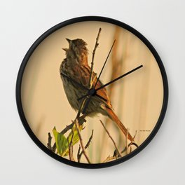 Song Sparrow Wall Clock