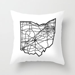 Ohio Love Where You're From Throw Pillow