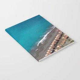 Positano Beach Umbrellas Notebook