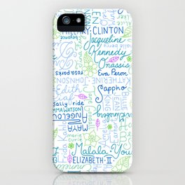 Strong Women Blue and Green iPhone Case