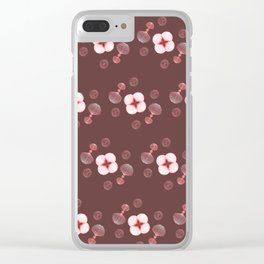 Floral Spores Clear iPhone Case