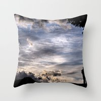 fairies Throw Pillows featuring Photographing Fairies by unaciertamirada