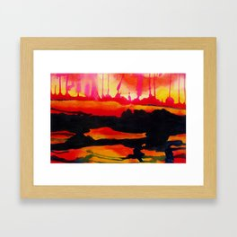 A Very Sunny Sunset Framed Art Print