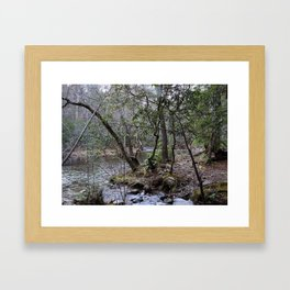 By the Creekside Framed Art Print