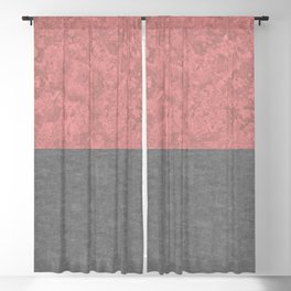 Blush Pink Marble and Rough Concrete Blackout Curtain
