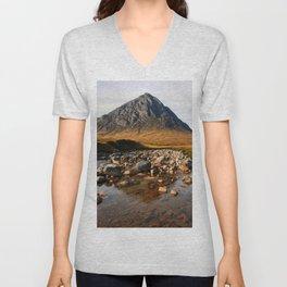 Buchaille Etive Mor Mountan Glencoe Scotland Unisex V-Neck