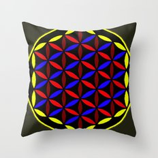 FLOWER OF LIFE Throw Pillow