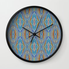 Liquid Ikat Wall Clock