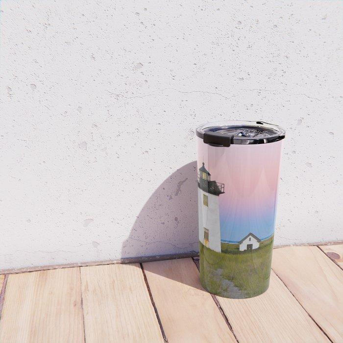 Lighthouse & Sunset Travel Mug