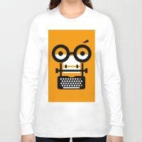 typewriter Long Sleeve T-shirts featuring typewriter by oguzhan