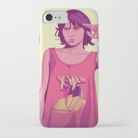 thrones iPhone & iPod Cases featuring 80/90s - Brn by Mike Wrobel