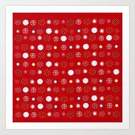 winter pattern4 Art Print