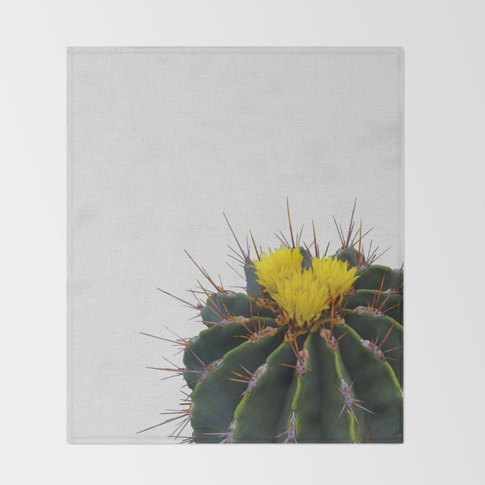 Cactus Flower Throw Blanket