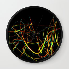 Abstract light effect Wall Clock