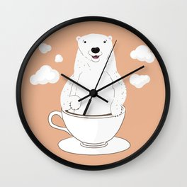 Take a Cup of Bear Wall Clock