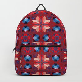 Abstract flower pattern 5h Backpack