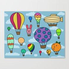 Happy Hot Air Balloons Canvas Print