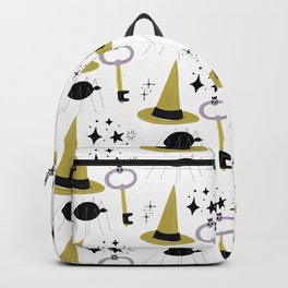 Happy haloween hats, keys, spiders and stars Backpack