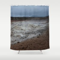 mars Shower Curtains featuring Mars by Lexi Colt