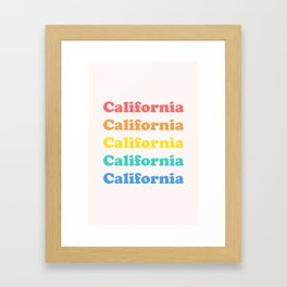 Retro California Framed Art Print