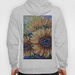 Countryside Sunflowers Palette Knife Hoody