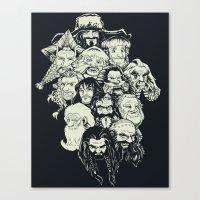 manga Canvas Prints featuring Manga Dwarves by artistjerrybennett