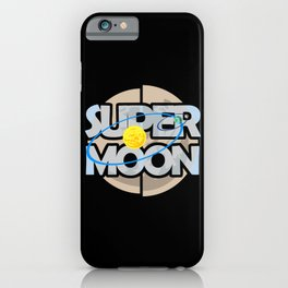 Super Moon Diagram iPhone Case