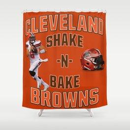 Shake n Bake  Browns Shower Curtain