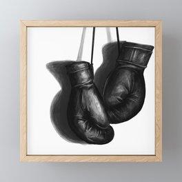 boxing gloves Framed Mini Art Print