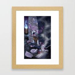 The Backalley Banshee Framed Art Print