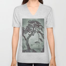 Old Man Standing - Looking through the Window Pane Unisex V-Neck