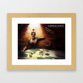 European War 3 poster Framed Art Print