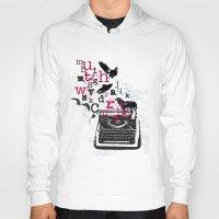 typewriter Hoodies featuring typewriter by Natasha79