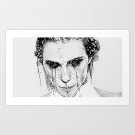 Underwater black and white Art Print