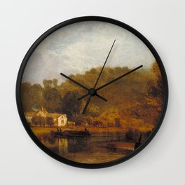 william turner Cliveden on Thames Wall Clock