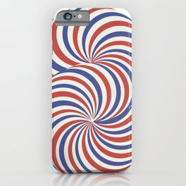 torus blue and red airmail theme iPhone Case