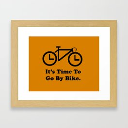 It's Time To Go By Bike Framed Art Print