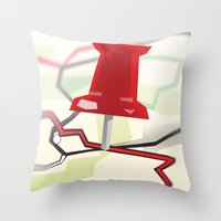 paper towns Throw Pillows featuring Paper Towns by dreki