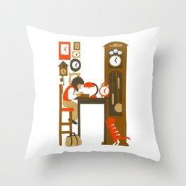 H as Horloger (Watchmaker) Throw Pillow