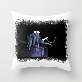 The hidden Monster in the closet Throw Pillow