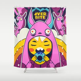 Overbite: Sour Bunny 1 Shower Curtain