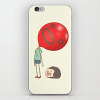 balloon iPhone & iPod Skins featuring balloon by cedricel