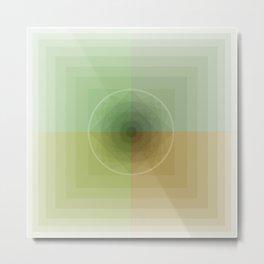 Geometric Earth Tones Metal Print