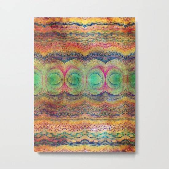 Wavy Pattern Metal Print