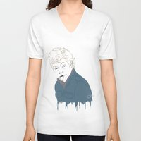 lip V-neck T-shirts featuring Lip by Nunyah Bidness