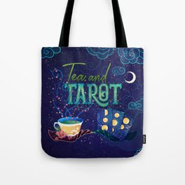 Kelly-Ann Maddox Collection :: Tea and Tarot (Illustrated) Tote Bag