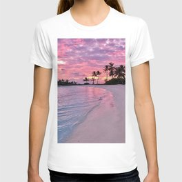 SUNSET AND PALM TREES T-shirt