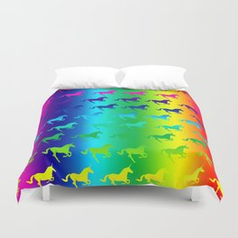 Psychedelic Unicorn Pattern Duvet Cover